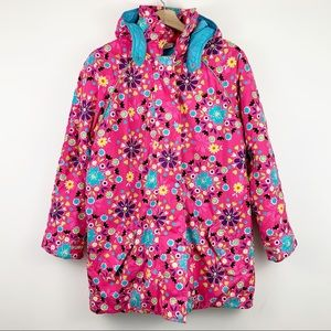 Hanna Andersson Girls Winter Coat Floral 14/16 160